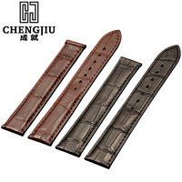 Alligator Leather Watch Stap Band Black Bracelet Accessory Belt Strap 19mm 20mm Tag No Clasp Buckle Uomo Fe Male Watch Strap