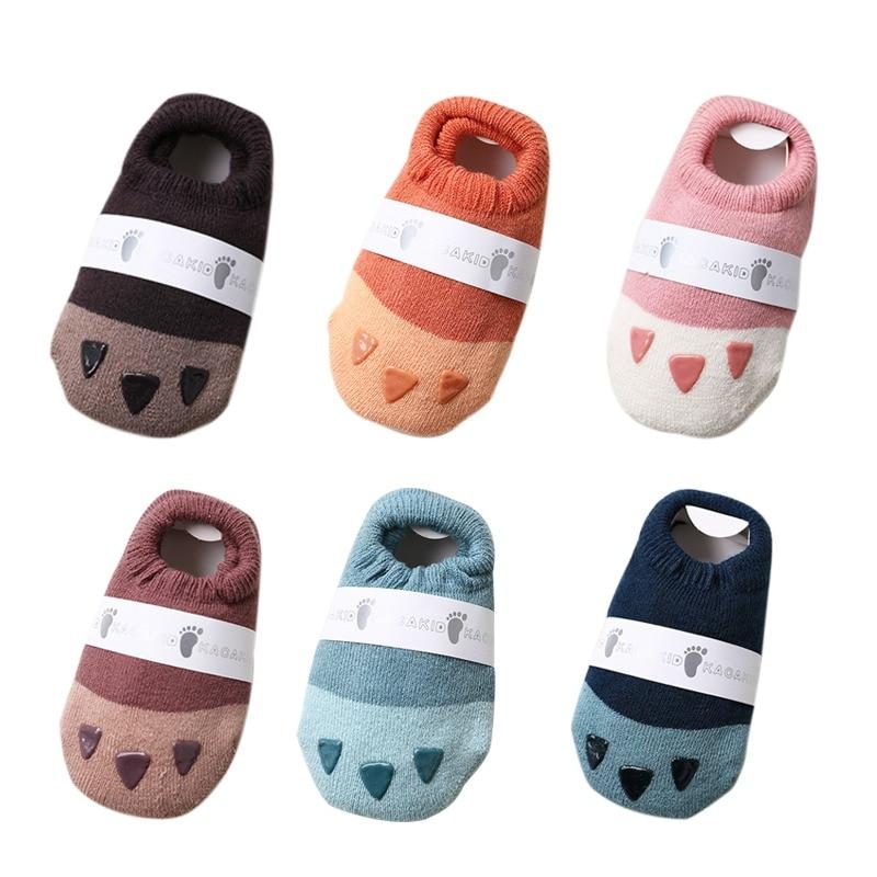 Newborn Toddler Baby Boy Girl Cute Floor Socks Anti-Slip Baby Step Socks 2019