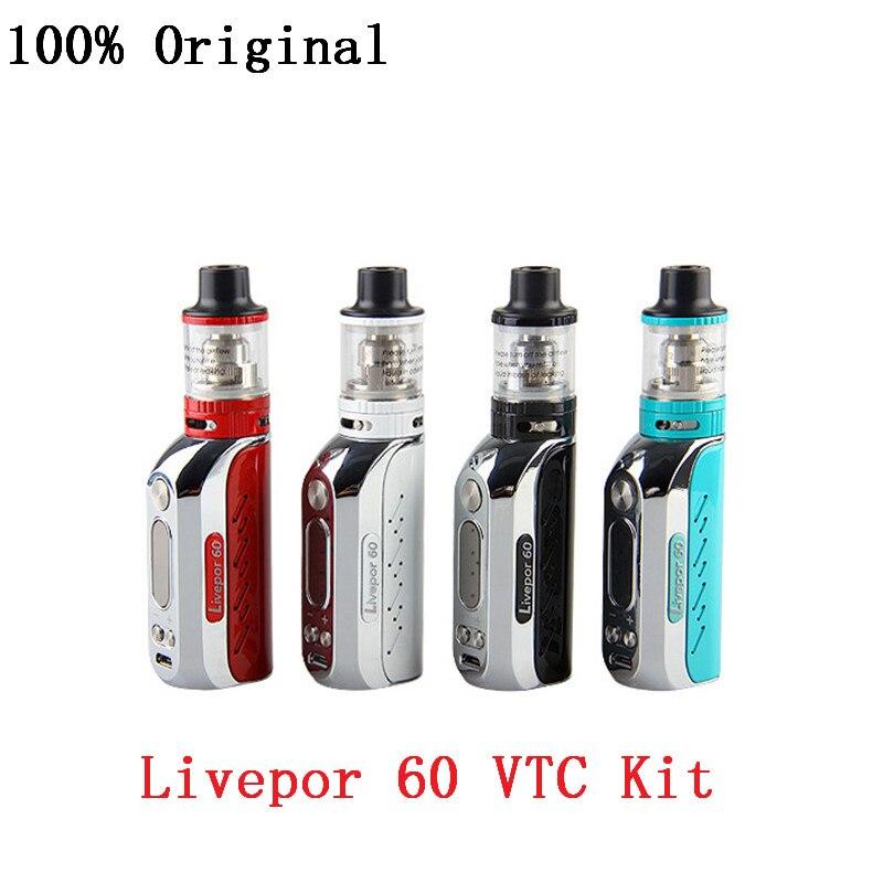 100% Оригинальные yosta livepor 60 vtc комплект электронные сигареты kit 60 Вт TC поле mod 1500 мАч Батарея пара mod