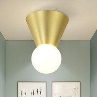 Modern LED Golden ceiling lights Metal Gold ceiling lamps for living room Bedroom kitchen ceiling lighting lustre fixtures