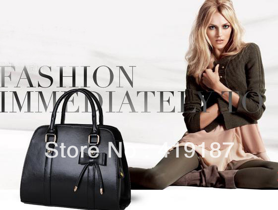 2013 Personal New Fashion Brand Design Women Noble PU Handbag Tote Clutch bag free shipping