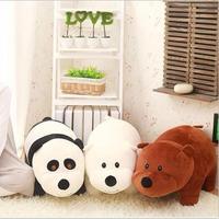1 шт. 40 см Мы Голые Медведи Носки с рисунком медведя из мультика, Grizzly серо-белый медведь панда мягкие плюшевые игрушки куклы, кукла подарок на...