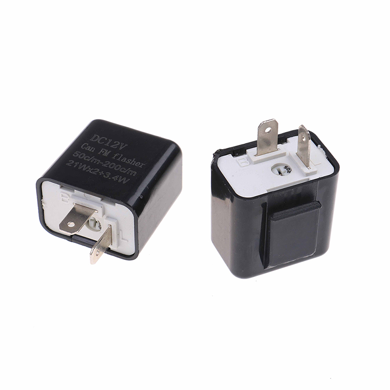 Universal 1Pc Adjustable Frequency Square Flashing LED Flasher Motorcycle LED Lights Turn Signal Indicator 12V Flash Relay