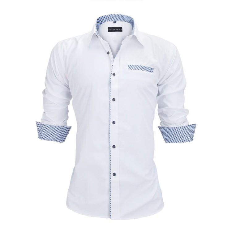 HTB1Gb9kKVXXXXcSXFXXq6xXFXXXs - New Arrivals Slim Fit Male Shirt Solid Long Sleeve British Style Cotton Men's Shirt N332