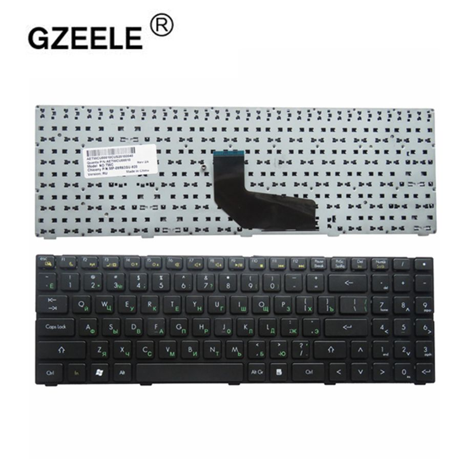 GZEELE russian laptop Keyboard for DNS TWC K580S i5 i7 D0 D1 D2 D3 K580N K580C K620C AETWC700010 MP-09R63SU-920 RU Black NEW new and original laptop baterry for dns 123871 gwbp05 921500013 11 25v 2800mah