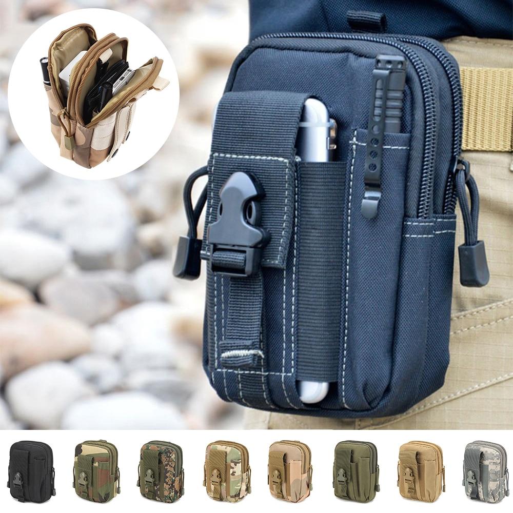 Boucho Universal Camouflage Package Multifuncional Bolsa para teléfono celular Bolsillos Cartera Bolsa para bolsa al aire libre para iPhone 6S X 8 Plus