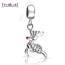 Здесь можно купить  Everbling Jewelry Christmas Reindeer 925 Sterling Silver Charm Bead Fit European Pandora Charms Bracelet