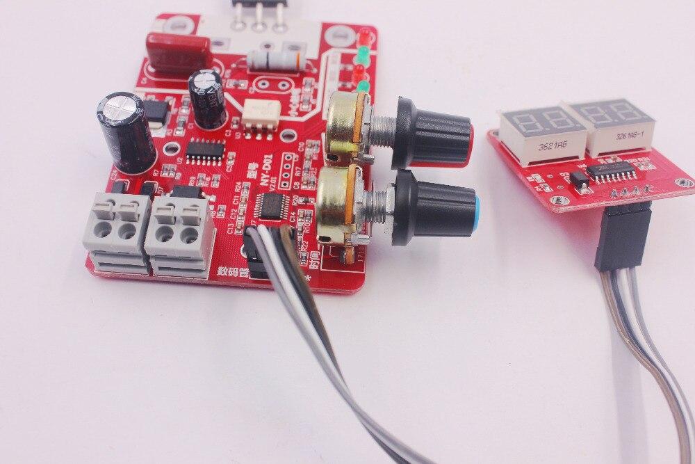 Плата управления точечных сварщиков 40A цифровой дисплей время точечной сварки и ток панель управления Амперметр синхронизации NY-D01