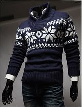Hot Sale Covered Regular Men Autumn 2015 New Hot-selling Men's Snowflake Christmas Sweater Must-have Discount
