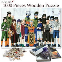 MOMEMO Wooden Jigsaw Puzzles 1000 Pieces Cartoon Puzzle for Adults Naruto Anime Pattern Games Kids Toys