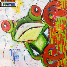 Diy Diamond Painting Cross Stitch Pattern Mosaic Crystal Needlework 5D Square/Round Embroidery Colorful frog picture