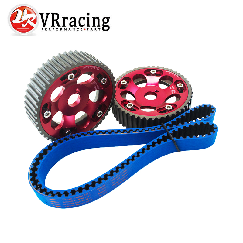 VR RACING - HNBR Racing Timing Belt BLUE + Aluminum Cam Gear Red FOR Toyota 1JZ 1JZGTE 1JZ-GTE VR-TB1005B+6531R