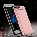 3000/4200 mAh Power bank Pacote de backup Carregador de bateria Externa Case Para iPhone6/6 sPlus com vidro temperado filme linha de USB