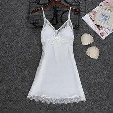Модная новинка, сексуальный топ на бретелях, халат, Летняя женская одежда для сна, Повседневная Домашняя одежда из искусственного шелка, ночная рубашка, банное платье, размер M-XXL