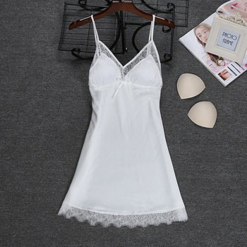 Fashion 2018 NEW Sexy Strap Top Robe Summer Womens Sleepwear Casual Faux Silk Home Wear Nightwear Bath Gown Size M-XXL 1