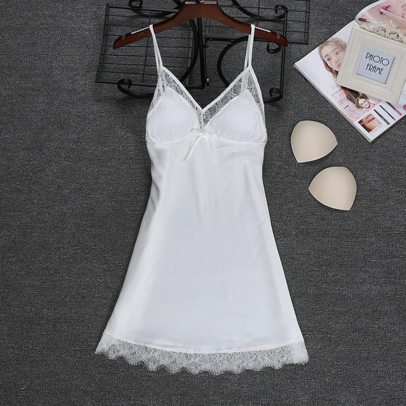 Fashion 2018 NEW Sexy Strap Top Robe Summer Womens Sleepwear Casual Faux Silk Home Wear Nightwear Bath Gown Size M-XXL(China)