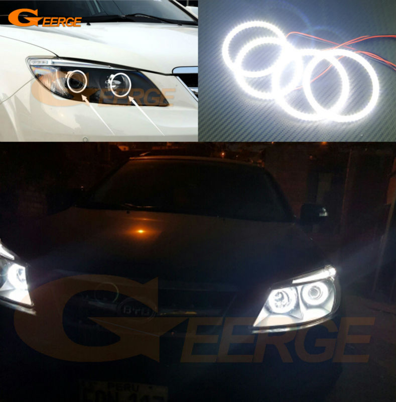 For BYD S6 2011 2012 2013 2014 Excellent led angel eyes Ultra bright illumination smd led Angel Eyes Halo Ring kit 6 44 2011