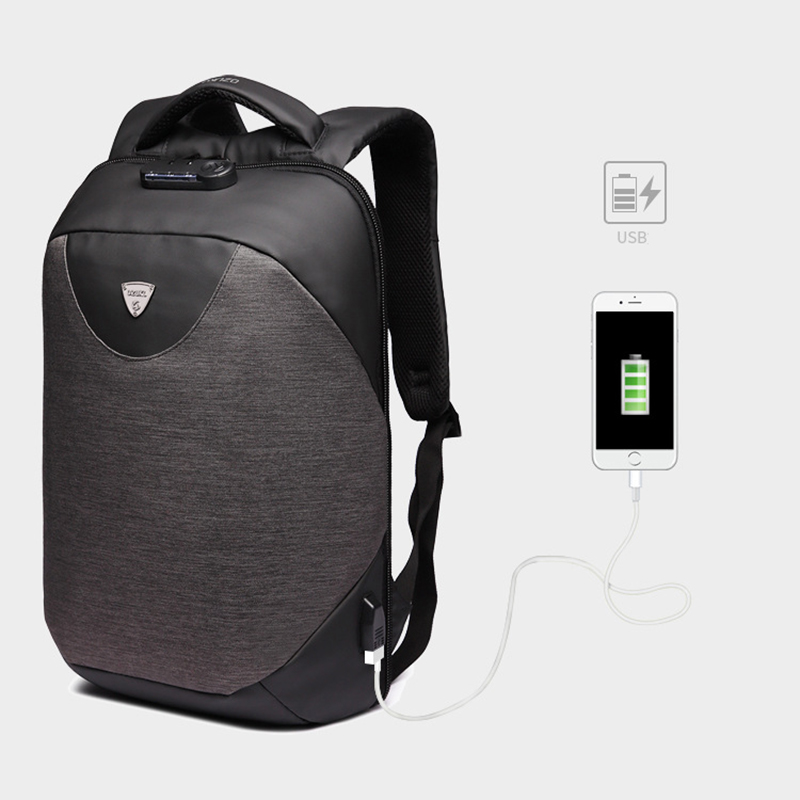 BAIBU 2018 Anti theft Men Backpack Fashion Waterproof 15.6inch USB Charge Laptop Backpack For Teenager Casual Student Schoolbag ozuko multi functional men backpack waterproof usb charge computer backpacks 15inch laptop bag creative student school bags 2018