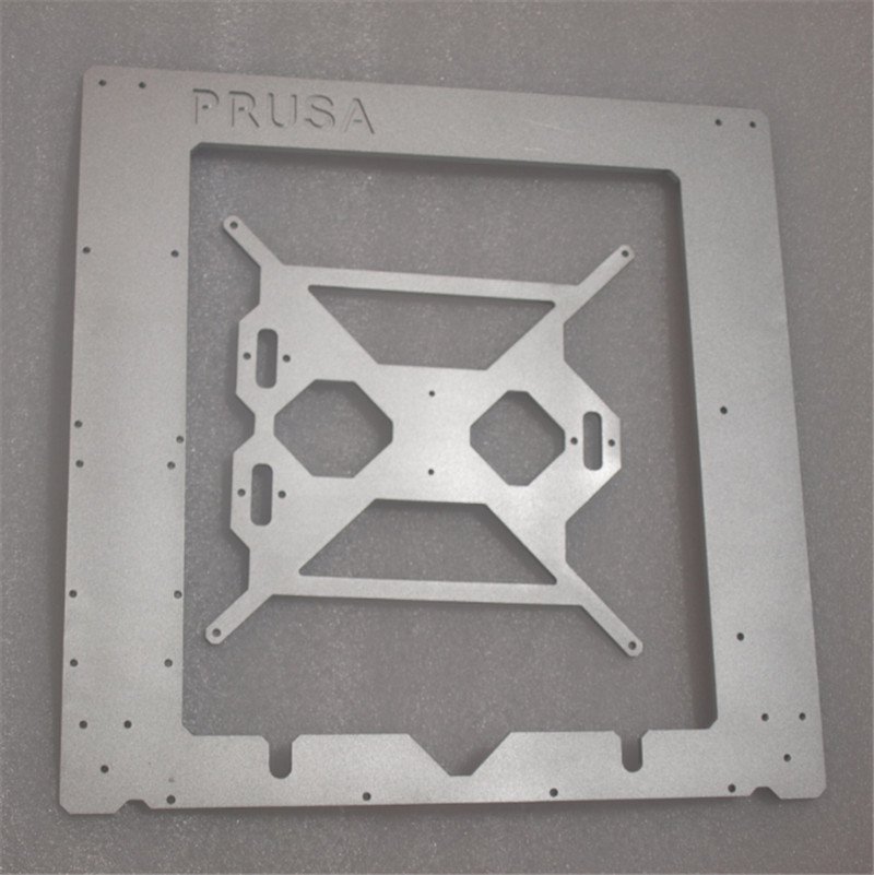 Funssor Reprap Prusa i3 MK2 Clone frame silver color aluminum frame kit 6mm thickness made by CNC