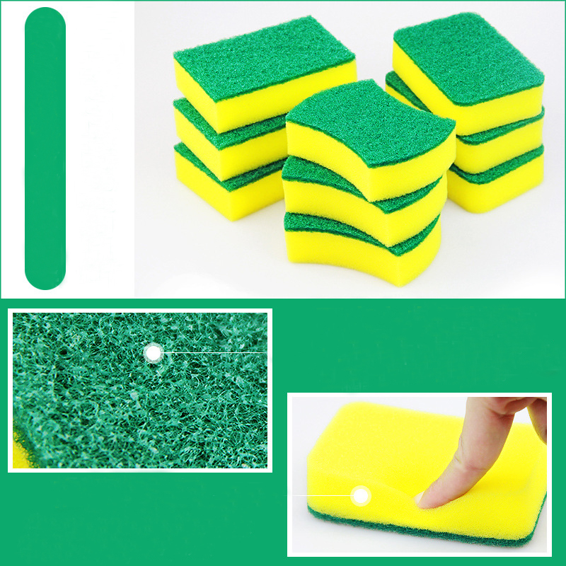 Image 3 - 10Pcs High Density Sponge Kitchen Cleaning Tools Washing Towels Wiping Rags Sponge Scouring Pad Microfiber Dish Cleaning Cloth-in Sponges & Scouring Pads from Home & Garden
