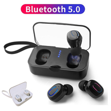 Invisible TWS Bluetooth Earphones 5.0 Mini Wireless Earbuds Stereo Deep Bass Headset with Microphone Charging Box wonstart true wireless earbuds mini tws earphones bluetooth hidden invisible hifi stereo with charging box for iphone samsung