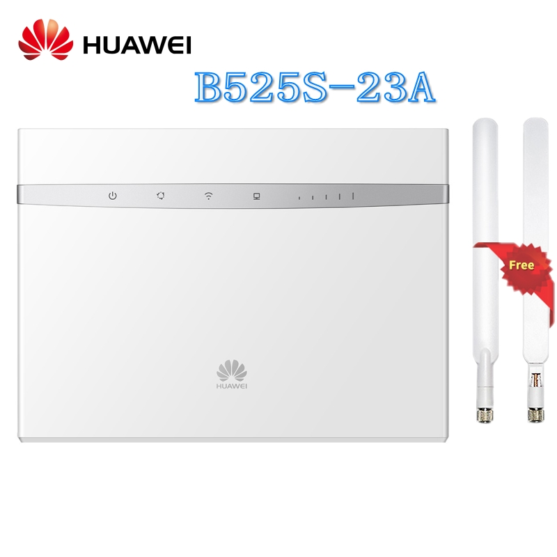 Unlocked Huawei B525 B525S-23A 4G LTE Cat6 Mobile Hotspot Gateway 4G LTE WiFi Router Dongle CPE Wireless Router plus Antenna zte mf910 mf910v 4g lte mobile wifi wireless pocket hotspot router modem unlocked
