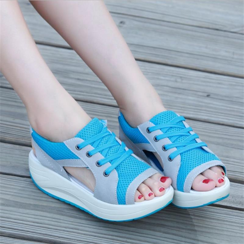 STAINLIZARD Women Sandals Platform Breathable Female Shoes Sandals Casual Summer Women Sandals Wedges Ladies Footwear HDT577 women sandals 2017 summer shoes woman wedges fashion gladiator platform female slides ladies casual shoes flat comfortable