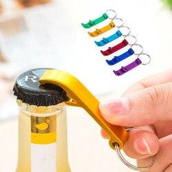 Portátil 4 em 1 abridor de garrafa chaveiro chaveiro chaveiro chaveiro metal cerveja barra ferramenta garra presente único criativo cor aleatória