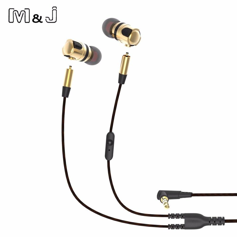 M&J X46M High Quality Detachable Earphone Wired Music