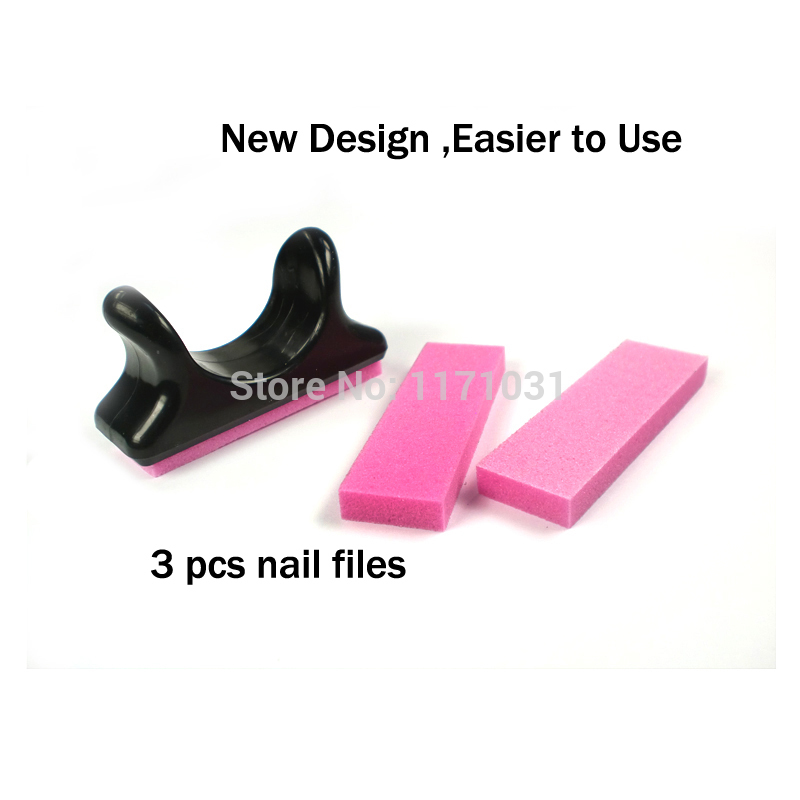 New Design mini nail file pink sanding nails files set 10 sets nails ...