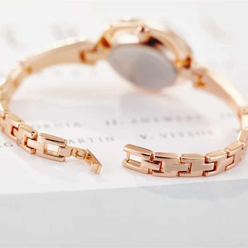 JW Marka Kadınlar Lüks Bilezik Saatler kırmızı altın kuvars saat Bayanlar Moda Elbise Saatı saat montres femme Hediyeler