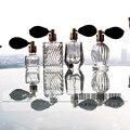 4 Unids/set Esmalte Transparente Vendimia Vacía de Perfume de Cristal Rellenable/Aerosol de la Botella de perfume Atomizador de la Señora Princesa Regalo de Boda Deco
