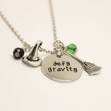 12pcs/lot Wicked the Musical inspired necklace pendant necklace defy gravity Elphaba Glinda Wicked necklace(China)