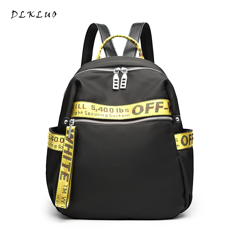 2017 new Fashion edition of the tide of the Oxford cloth backpack female large capacity waterproof simple leisure nylon backpack simple fashion moistureproof sealing thick oxford fabric cloth wardrobe rustproof steel pipe closet 133d