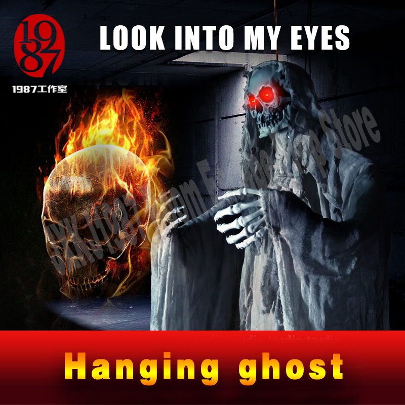 Новый Хэллоуин с привидениями номер побег КТВ Бар украшения висит скелет призрак ужасов реквизит форме JXKJ1987 Escape комнаты реквизит