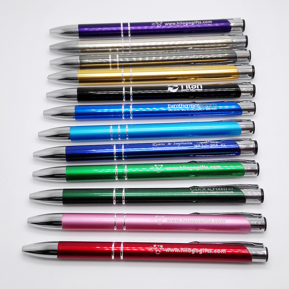 New design company logo gift ideas laser engraved metal pens 30pcs a lot customized FREE ...