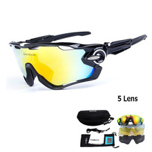 2017 Polarized Bike glasses bicycle outdoor sports bicycle Sunglasses Goggles 5 Group Lens Glasses