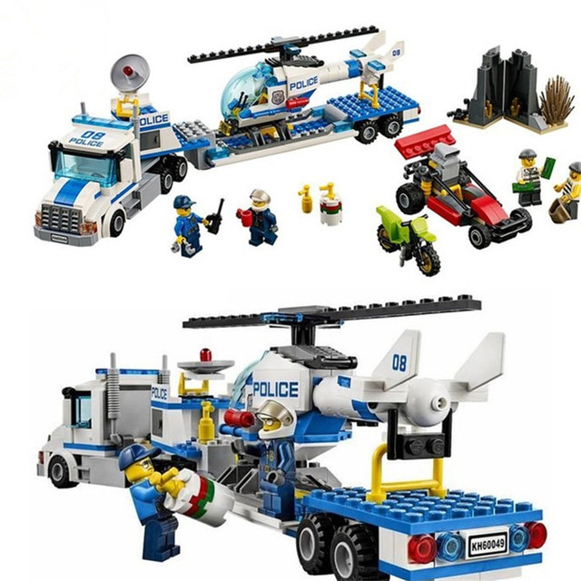 Compatible Legoe City 60049 Bela 10422 410pcs Helicopter Transporter