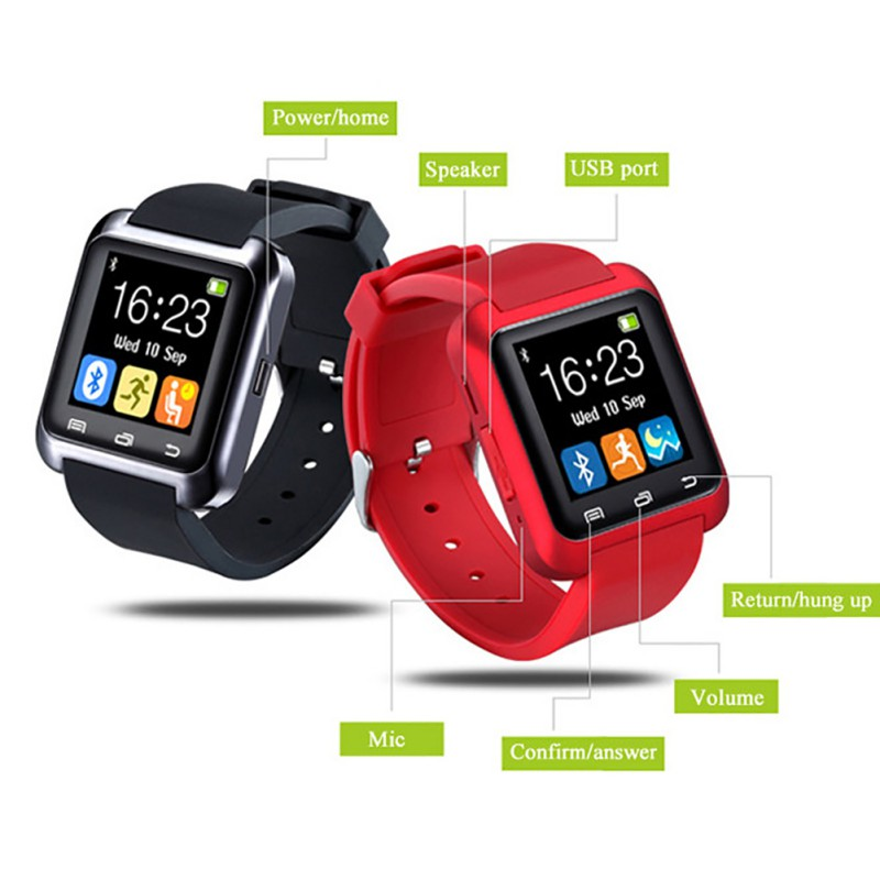 Smartwatch Bluetooth Berif U8 Smart Watch Men Watch Notification Fitness Tracker Passometer with Sim Slot for iPhone Android Smartwatch Bluetooth Berif U8 Smart Watch Men Watch Notification Fitness Tracker Passometer with Sim Slot for iPhone Android