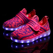 Kids for светящиеся shoes световой аккумуляторная обуви мальчиков девочек света светодиодные