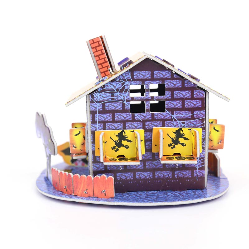 Aliexpress.com Buy 1 Piece Halloween House Terror 3D Puzzle Mini