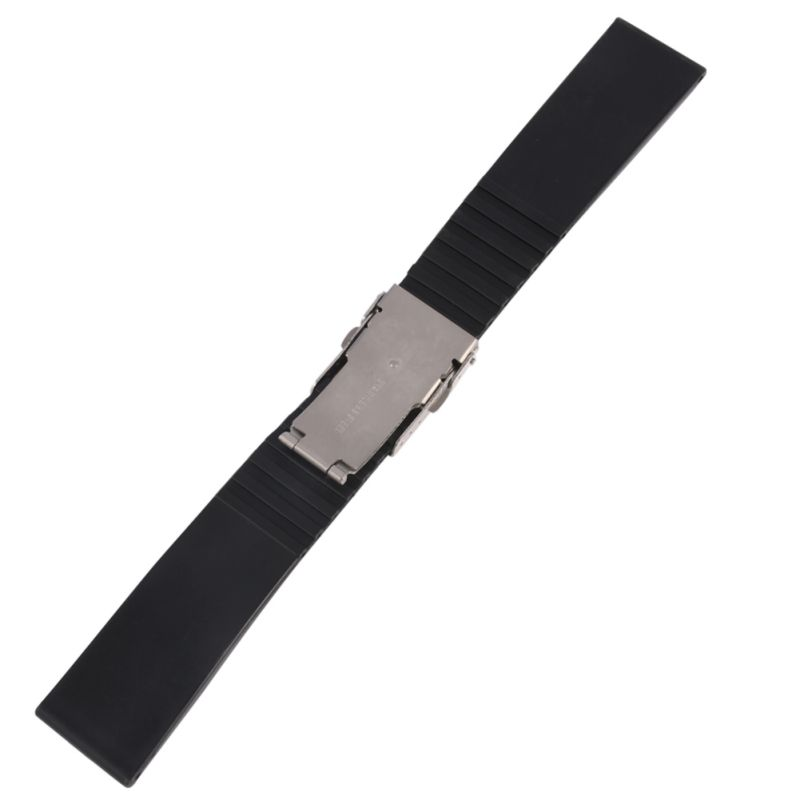 Waterproof Silicone Rubber band Watchband For Wristwatch Watch Strap Band Deployment Buckle