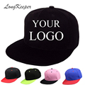 LongKeeper Snapback Caps Blank Hip Hop Hats Customized Net Baseball Caps LOGO Printing Adult Hats Casual Peaked Hat 10pcs/lot