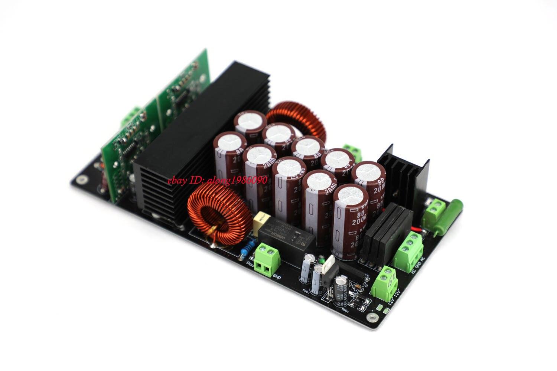 GZLOZONE Assembeld Stereo IRS2092 Class D Power Amplifier Board 600W+600W AMP L10-22 gzlozone one pair assembeld lm3886 amp board base on jeff rowland amp 360w 360w l11 4