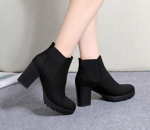 2018 Mujer Alibaba Converse Cuero Zapatos Otoño Nueva Moda De Señora En Botines Star Populares Botas Invierno All 8fARr8q