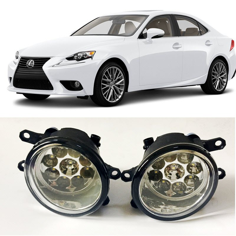 For <font><b>Lexus</b></font> IS250 IS350 2008-2017 9-Pieces Leds Fog Lights H8 H11 12V 55W Halogen LED Fog Head Lamp Car-Styling image