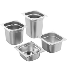 6pcs/lot 1/6 GN Pan Stainless Steel Food 176*162mm Chafing Buffet Cozinha Home Use Kitchen Accessories