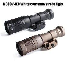 Lumière tactique blanche à LED M300V, interrupteur lumineux, 400 Lumens, stroboscope Constant, télécommande, lampe de poche pour la chasse