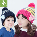 HOT 2016 fashion winter hats for girls boys hats Handmade Knitted cap angel wings style children hat for child's Christmas gift