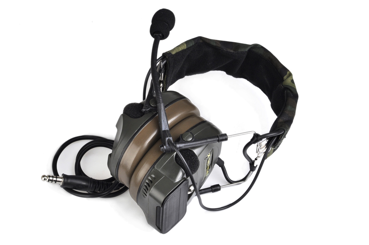 Z-TAC Comtac-I/C1 dual microphone active pickup noise reduction tactical headset 4 generation Z054 stereo